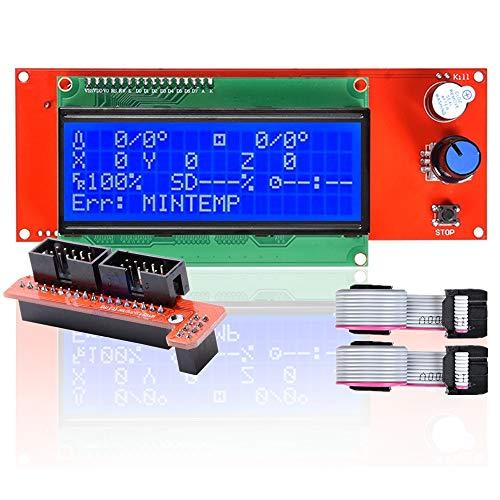 Controller per stampante 3D, schermo LCD 2004, display intelligente, per stampante 3D, controller RAMPS 1.4, Arduino Mega Arduino RepRap