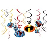 amscan Disney/Pixar Incredibles 2' Swirl Value Pack 12ct, Party Favor