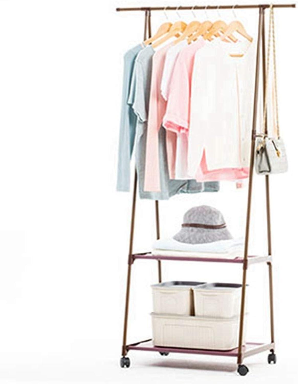 Sxuefang Coat Rack Coat Hat Rack Multi-Function Triangle Coat Rack Removable Bedroom Hanging Clothes Rack with Wheels Floor Standing Hat Coat Stand Clothes Hanger 160x42x55cm