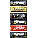 ViPnuts, Try Me Selection Box, Blank Message Includes Vegan, Gluten Free, High Protein. 6 Shot Packs
