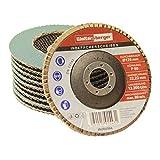 Woltersberger® Discos de láminas Inox | Diámetro 125 mm | Grano 60 | 10 unidades | Azul...
