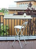 Balcón Plegable Mesa Auxiliar Plegable para Colgar, Barandilla de Balcón para Exteriores, Patios de Escritorio Plegables Y Ajustables, Escritorio de Aleación de Aluminio Montada En La Pared, Negro/Bla
