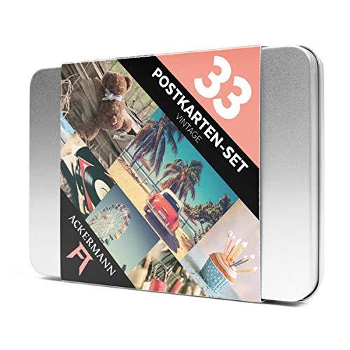 Postkarten-Set Vintage | Nostalgische Aufnahmen im pastellfarbenen Retro-Stil | Die inspirierende Deko- und Geschenkidee