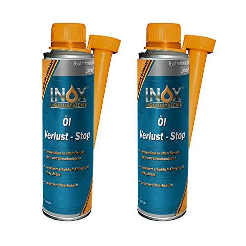 INOX® Öl Verlust Stop Additiv, 2 x 250 ml - Öl-Zusatz verhindert Ölleck im Motor, für alle KFZ Motoren