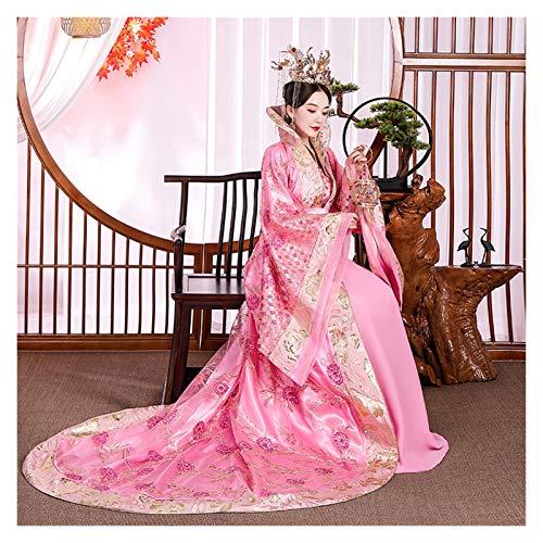Disfraz antiguo para mujer de la dinasta Hanfu Tang, princesa y concubina imperial estilo antiguo, disfraz de reina palacio (color rojo, tamao: talla nica)