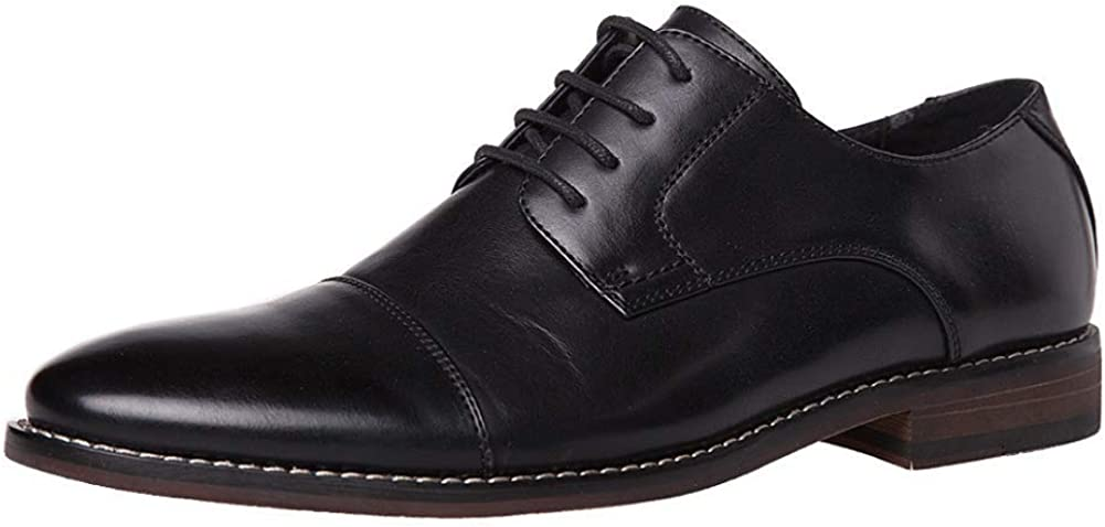 J's.o.l.e Men's Classic Formal Cap Toe Lace Up Oxford Wingtip Dress Shoes