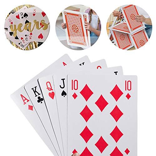Saniswink Extra Große Super Big Poker Big Card Riesige Hochzeit Big Model, 2/4/6/9-fach Extra Große übergroße Spielkarten Poker Lustige Brettspiel Requisiten 6 mal