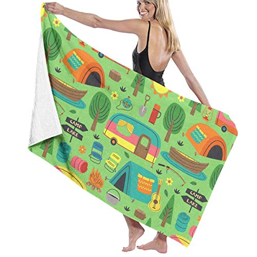 Read About Camping Travel Car Amusing Firewood Tent Themed Party Pattern Printed Beach Blanket Mat P...