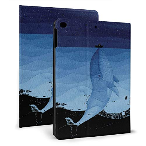 Jumping Blue Whale Ipad Case mini4/5 & ipad air1/2 TPU Protective Stand Cover with Auto Sleep Wake Up Ipad for IPad 7.9'&9.7' Tablet