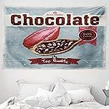 ABAKUHAUS Kakao Wandteppich & Tagesdecke, Beste Wahl Schokolade Retro, aus Weiches Mikrofaser Stoff Wand Dekoration Für Schlafzimmer, 230 x 140 cm, Mehrfarbig