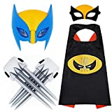 Superhero LED Wolverine Masks and Capes Superhero Dress Up Plastic Wolverine Claw Pretend Games Costume Accessories Best Gifts for Kids