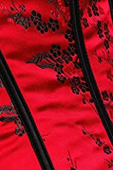 Kelvry Women's Basque Gothic Boned Lace Corsets and Steampunk Bustiers Dress with Skirt Plus Size Red-Black #2