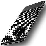 Losvick Coque pour Galaxy S20 Plus, Housse Silicone Souple Bumper Anti-Choc Protection Etui Ultra Mince Fibre de Carbone Non-Slip Anti-Rayures Case Cover pour Galaxy S20 Plus - Noir