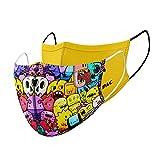 P.A.C. Kids Lightweight 2er-Pack Community-Maske, Mund- & Nasenmaske, Behelfsmaske, Alltagsmaske, Waschbar bis 90°, Einfach aufziehen, OEKO-TEX 100, Wiederverwendbar