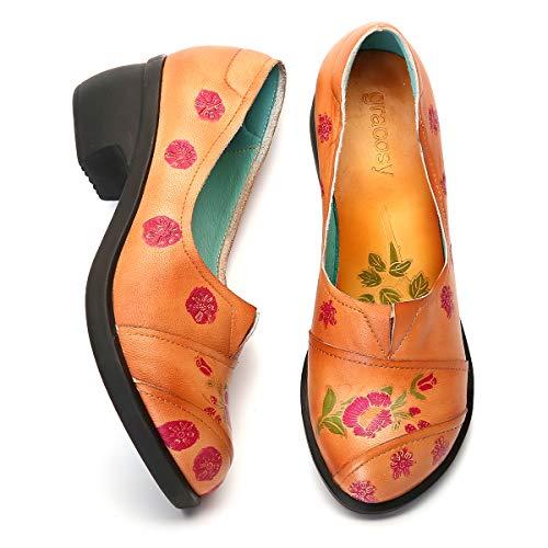 Gracosy Mocasines Zapatos Mujer Cuero Calzado