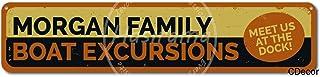 No dream Morgan Family Boat Excursions Cartel de Pared de Pintura de Hierro Cartel de Banda Vintage de Metal Carteles de Chapa Placa de Marcas Retro para jardín Oficina