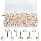 Pinnnadeln mit Kopf, Rotgold, rund, Stecknadeln, transparent, Kunststoff, für Kork-Pinnwand,...