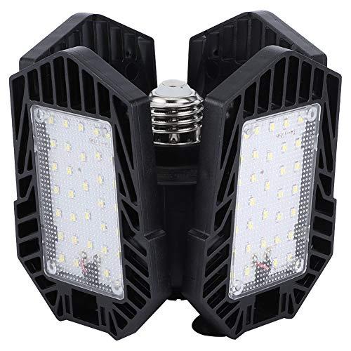 Zerodis Luz de Garaje, 80W 4x33LED Luz de Garaje Lámpara de Techo Interior deformable E27/E26 Base IP65 Impermeable 85-265V para Taller de Pasillo de Granero