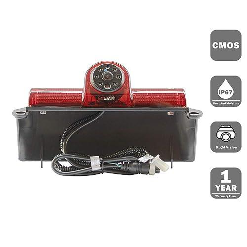 Backup Camera Compatible for Chevrolet Express GMC Savana Cargo Van Transporter Chevy Express/GMC Savana Explorer Replace Thrid Brake Light (Without Monitor)