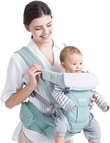 FS Porte-bébé Ergonomique 3 en 1, Porte-bébé Universel Four Seasons, Fond De Panier Détachable , Vert (30kg, 0-36 Mois)