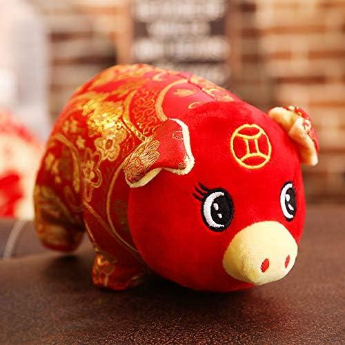 DONGER Année De Cochon Poupée Mignonne Bénédiction Cochon Poupée Argent Cochon Jouet Société Cadeau De Vacances, Cochon d'or Envoyer Bénédiction, 50 Cm