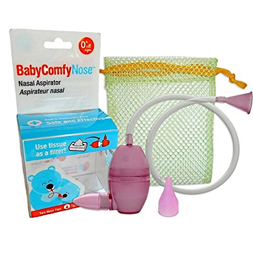 BabyComfy Nasal Aspirator - The Snotsucker - Hygienically & Safely Removes Baby's Nasal Mucus (Pink)
