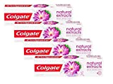 Colgate Naturals Extracts Flor de Loto Dentífrico - 4 Recipientes de 75 ml - Total: 300 ml