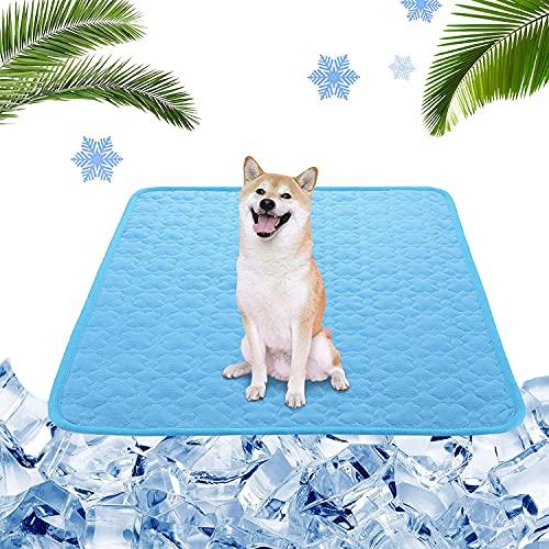 Esterilla de Refrigeración para Perros,100*70 cm Pet Cooling Mat,Alfombra Refrigerante para Perros Gatos Mascotas,Alfombra Refrescante Verano para Perros