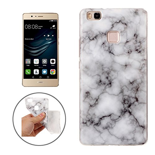Movoja Huawei P9 Lite Marmor-Hülle weiches weiß [ TPU Case Marmormuster Optik ] Smartphone Schutzhülle Cover Marble Muster Marmor Design weich-weiß-Marmor