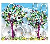 Résumé Fleur Treehome Décoration Fond d'écran 3D Murale Hd Affichage Chambre...