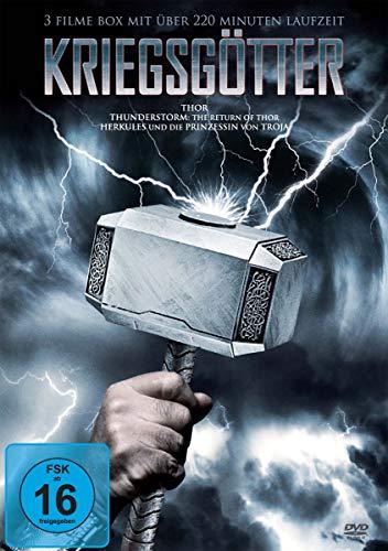 KRIEGSGÖTTER 3 Filme-Box Thor - Thunderstorm: The Return of Thor - Herkules und die Prinzessin von Troja