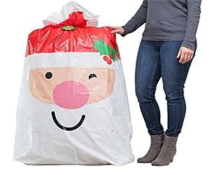 """Hallmark 56"""" Jumbo Christmas Gift Bag (Extra Large Santa Bag for Big Presents)"""