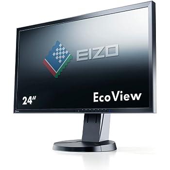 EIZO FlexScan 24インチカラー液晶モニター 1920×1200 DVI-D24Pin D-Sub15Pin  DisplayPort ブラック FlexScan EV2436W