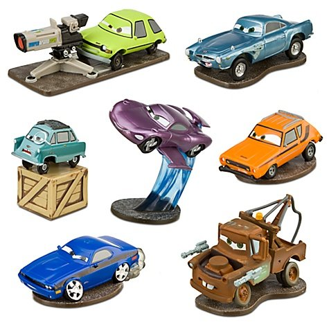 Disney Cars 2 Deluxe Spy Figure Play Set includes, Mater, Finn, McMissile, Acer with camera, Grem Professor Z and Holley Shiftwell -- 7-Pc.