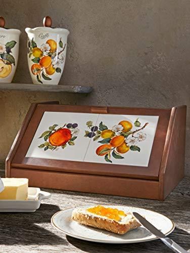 Unisex Nostalgischer Brotkasten 'Pomi D'Oriente' Nuova Ceramica Artisan