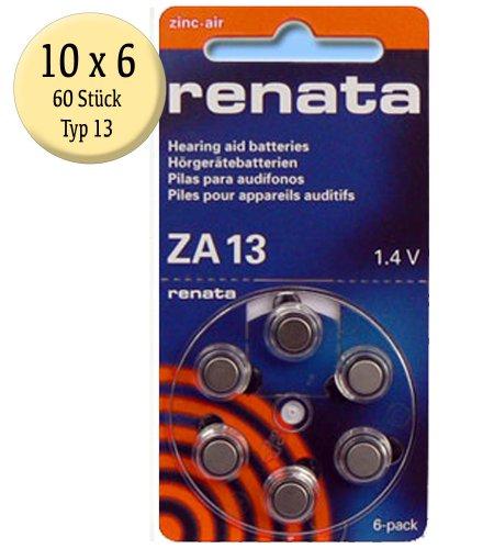 puissant Batterie pour prothèse auditive Renata zA 1360 310mAh 1,4 v