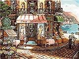 Pintar por números Kit Floristería de esquina Adultos Niños con Pinceles Lienzo y Pinturas Acrilicas DIY Conjunto Completo de Pinturas para el Hogar 40 x 50 cm Sin Marco