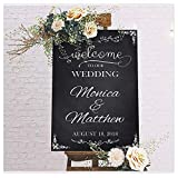 Welcome to Our Wedding, Custom Wedding Sign, Wedding Welcome Sign, Chalkboard Sign, Wedding Party Signs, Handmade Party Supply Poster Print, Custom Banner and Sign, Size 24x18, 36x24 and 48x36