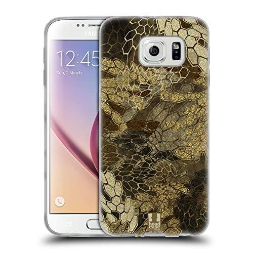 Head Case Designs Vista de Vuelo de Pato/Aves acuáticas Insignia de Camuflaje Hunting Carcasa de Gel de Silicona Compatible con Samsung Galaxy S6