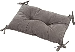 QYA-XZ Corduroy Fabric Chair Pad, Rectangle 11.8 X 19.7 Inch Stool Cushion with Ties, Comfort Seat Cushioning-Gray 30x50cm(12x20inch)