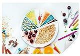 Póster de artistas, cerezas y copos de avena, 150 x 120 cm