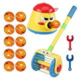 Electric Push Walker & Whirl Scoop a Ball Launcher Walker Set, Baby Vacuum Cleaner Toy,Puzzle Launcher Toy for Kids,Parent-Child Interactive Party Fun Family Game.