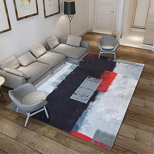 MMHJS Alfombra Sin Pelo Abstracta para El Hogar Alfombra Rectangular para Sala De Estar Alfombra De Dormitorio Alfombra De Cocina 140x200cm