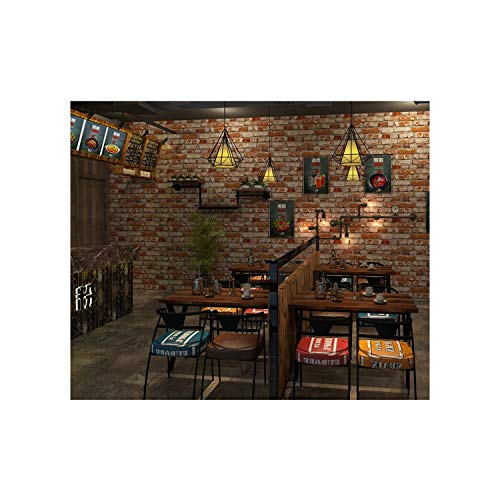 AMHD behang in vintage-stijl, Amerikaanse country-look, bakstenen, 3D-effect, PVC, wanddecoratie voor bars/cafés, restaurants LMD-058