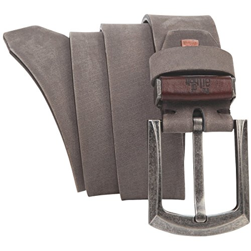 Lindenmann The Art of Belt Mens leather belt/Womens belt, Premium full grain leather belt Unisex, sand, Größe/Size:100, Farbe/Color:beige