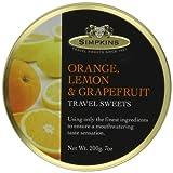 Simpkins Orange, Lemon and Grapefruit Drops 200 g (Pack of 6)