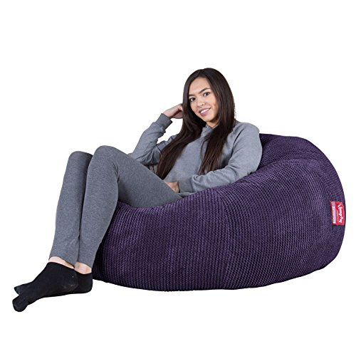 Lounge Pug, Sitzsack Sofa, Relaxsessel, Pom-Pom Lila