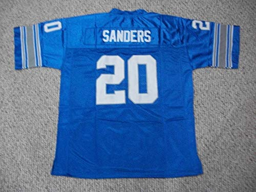 Unsigned Barry Sanders #20 Detroit Custom Stitched Blue Football Jersey Various Sizes New No Brands/Logos (S)