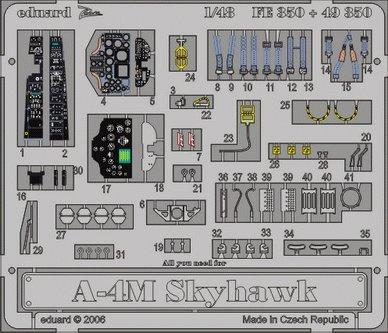 Eduard Accessories Modélisme Accessoires 4 m Skyhawk A pour Olympus FE-350 Hasegawa Kit