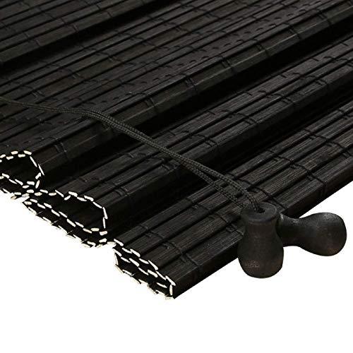 Zairmb Ecological Persianas De Caña Estores de Bambú Personalizable Sunshade Persianas Enrollables de Partición Protector Solar con cordón para Exterior interior-100x200cm MI.